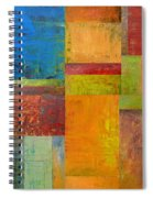 Abstract Color Study Collage Ll Spiral Notebook