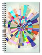 Abstract Color Wheel Spiral Notebook