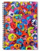 Abstract Colorful Flowers 3 - Paint Joy Series Spiral Notebook