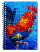 Abstract Colorful Gallic Rooster Spiral Notebook