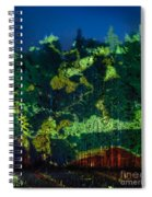 Abstract Colorful Light Projection On Trees Spiral Notebook