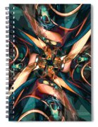 Abstract Colorful Shapes Spiral Notebook