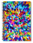 Abstract Colorful Splash Background 1 Spiral Notebook