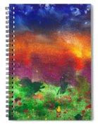 Abstract - Crayon - Utopia Spiral Notebook
