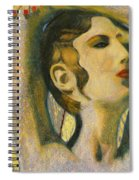 Abstract Cyprus Map And Aphrodite Spiral Notebook