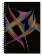 Abstract Dancers Spiral Notebook