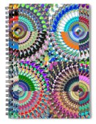 Abstract Digital Art Collage Spiral Notebook