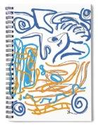Abstract Digital Spiral Notebook