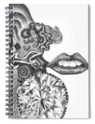 Abstract Drawing #1 - Young Woman Spiral Notebook