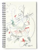 Abstract Drawing Fifty-five Spiral Notebook
