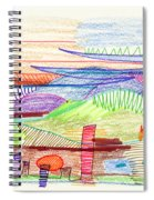 Abstract Drawing Four Spiral Notebook