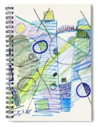 Abstract Drawing Seven Spiral Notebook