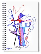 Abstract Drawing Sixty-nine Spiral Notebook
