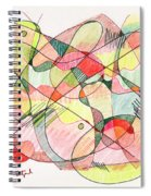 Abstract Drawing Twenty Spiral Notebook