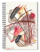 Abstract Drawing Twenty-one Spiral Notebook