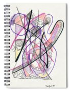 Abstract Drawing Twenty-six Spiral Notebook