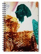 Abstract-duck-dancing Bear And Buffalo Spiral Notebook