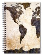Abstract Earth Map Spiral Notebook
