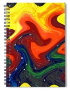 Abstract Eight Of Twenty One Spiral Notebook