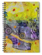 Abstract - Falling Leaves Spiral Notebook