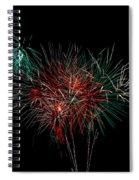 Abstract Fireworks Spiral Notebook
