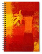 Abstract Floral - 6at01a Spiral Notebook