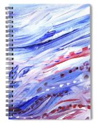 Abstract Floral Marble Waves Spiral Notebook