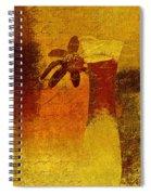 Abstract Floral - P01bt01c11c Spiral Notebook