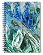 Abstract Floral Sky Reflection Spiral Notebook