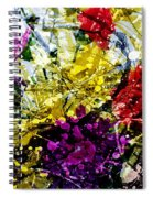 Abstract Flowers Messy Painting Spiral Notebook