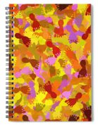 Abstract Footprints Spiral Notebook