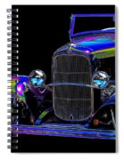 Abstract Ford - Classic Hotrods Spiral Notebook