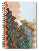 Abstract  Four Of Twenty One Spiral Notebook