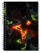 Abstract Fractals Spiral Notebook