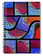Abstract Fusion 168 Spiral Notebook