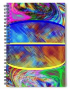 Abstract Fusion 173 Spiral Notebook