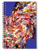 Abstract Fusion 189 Spiral Notebook