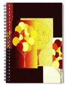 Abstract Fusion 192 Spiral Notebook