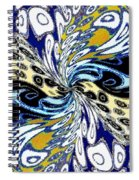 Abstract Fusion 198 Spiral Notebook
