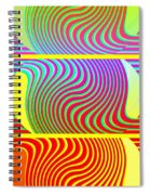 Abstract Fusion 205 Spiral Notebook