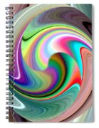 Abstract Fusion 241 Spiral Notebook