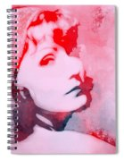 Abstract Garbo Spiral Notebook