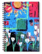Abstract Garden Spiral Notebook