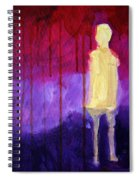 Abstract Ghost Figure No. 3 Spiral Notebook