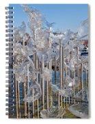Abstract Glass Art Sculpture Spiral Notebook