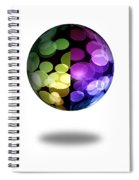 Abstract Globe Spiral Notebook