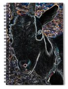 Abstract Goat Spiral Notebook
