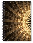 Abstract Gold Series 1 Spiral Notebook