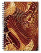 Abstract Gold 3 Spiral Notebook