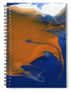 Abstract Gold Fish Spiral Notebook